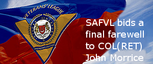 SAFVL bids a final farewell to COL(RET) John Morrice