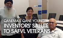 QaneMate Qane young inventors' Salute to SAFVL veterans