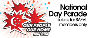 National Day Parade tickets for SAFVL members only