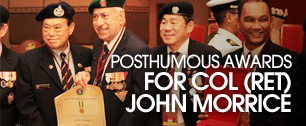 Posthumous awards for COL(RET) John Morrice
